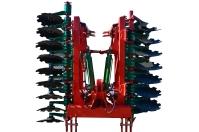 Brona talerzowa Brona BT AGRO-MASZ hydraulicznie składana zabezpieczenie gumowe