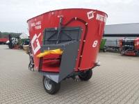 Wóz Paszowy Jednowirnikowy METAL-FACH T659 BELMIX 5m3 - 13m3 Konstrukcja Ramowa