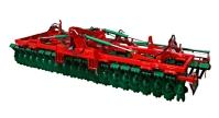 Brona talerzowa Brona BT AGRO-MASZ hydraulicznie składana zabezpieczenie sprężynowe