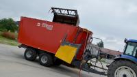 Wóz Paszowy Dwuwirnikowy METAL-FACH T659 BELMIX 12m3 14m3 16m3 18m3 20m3 Konstrukcja Ramowa