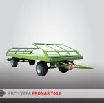 Przyczepa platformowa do bel T022 PRONAR
