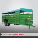 Przyczepa do przewozu zwierząt T046/2 PRONAR