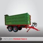 Przyczepa rolnicza ciężarowa tandem T663/3 iT663/3 SILO 10t PRONAR