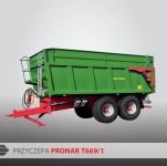 Przyczepa rolnicza ciężarowa skorupowa T669/1 TP TL 14t PRONAR