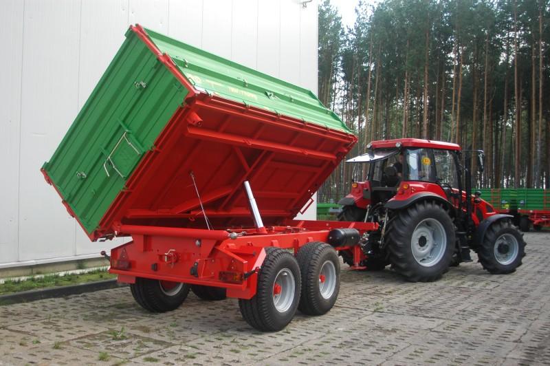 Nietypowy Okaz Przyczepa rolnicza ciężarowa tandem T663/1 i T663/1 SILO 10t ZK99