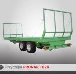 Przyczepa Platformowa do bel Tandem PRONAR T024 8,9T