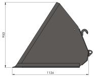 Szufla Objętościowa Łyżka Materiałów Sypkich Giżycko HYDRAMET MAXI 1,8m 2,0m 2,2m 2,4m