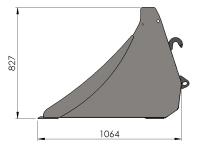 Szufla Wzmocniona Łyżka Materiałów Sypkich Giżycko HYDRAMET 2,0m 2,2m 2,4m