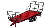 Przyczepa rolnicza platformowa tandem T955/2 7,2t 10t METAL-FACH