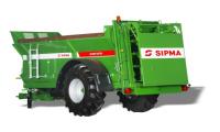 Rozrzutnik Obornika SIPMA RO 800 TAJFUN 8 ton Jednoosiowy Resorowany Dyszel Elektryczne Sterowanie Posuwem Podłogi PROMOCJA