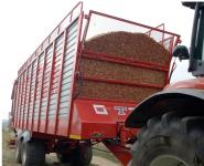 Przyczepa Ciężarowa Rolnicza Tandem METAL-FACH T750 14t Objętościowa zPosuwem Hydraulicznym Podłogi