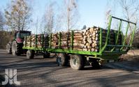 Przyczepa Platformowa Do Bel/Drewna PRONAR T026KM 13,5t