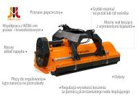 Kosiarka Bijakowa zPrzesuwem Hydraulicznym PRONAR BKD 160/180/200/202P
